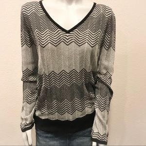 WHITE HOUSE BLACK MARKET Sparkly V-Neck Sweater